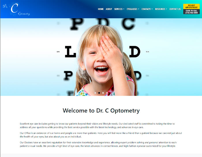 Dr.C Optometry website thumbnail